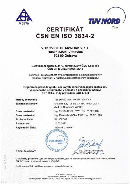Certifkát - 3834-2